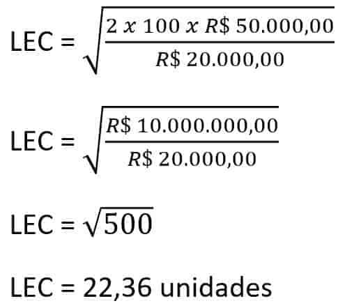 Exemplo Calculo LEC